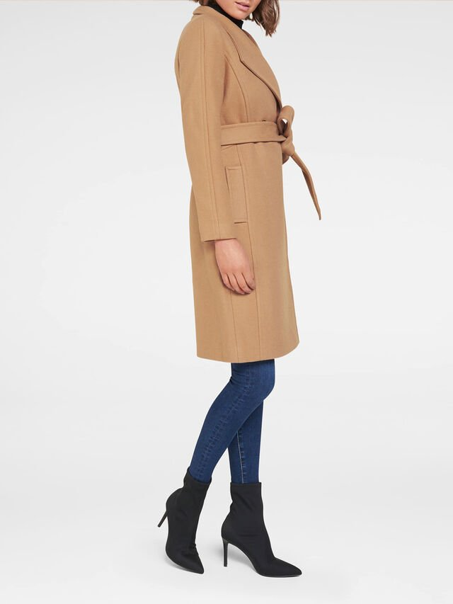Heather Wrap Coat