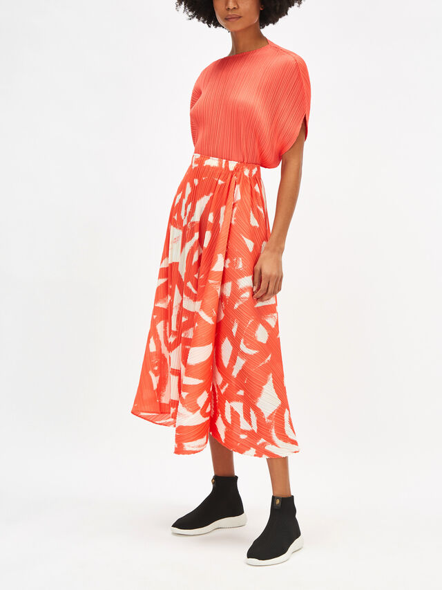 Spin Print Long Skirt