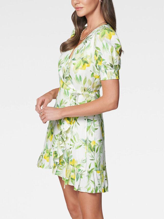 Boston Wrap Linen Mini Dress