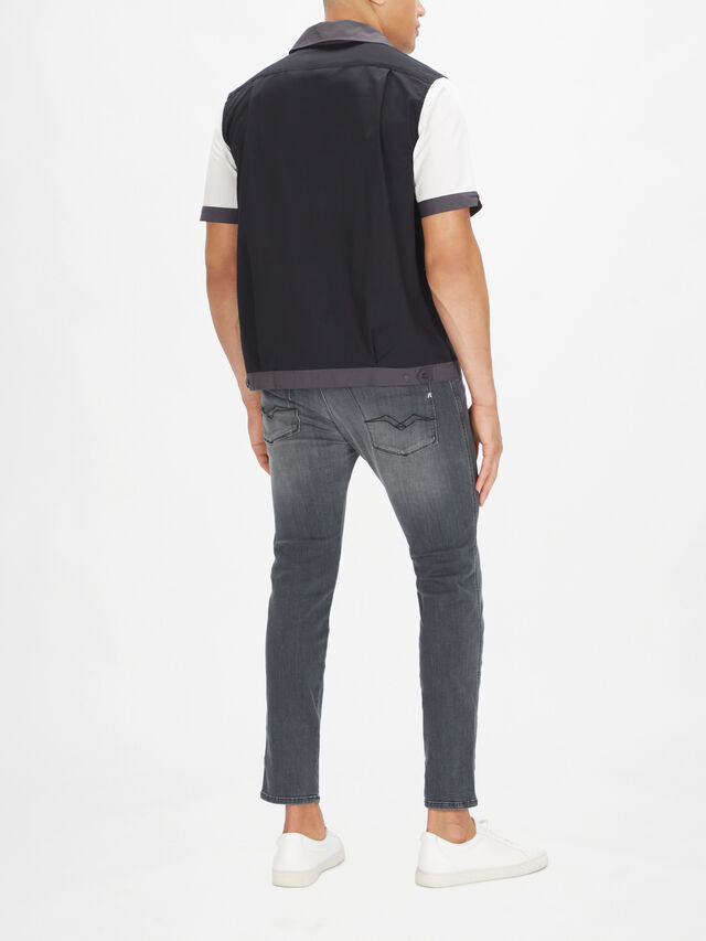 Colour Block Revere Collar Shirt