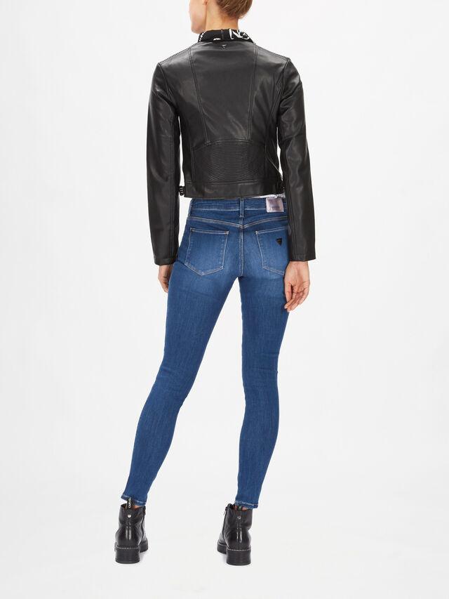 Jone Faux Leather Foulard Jacket