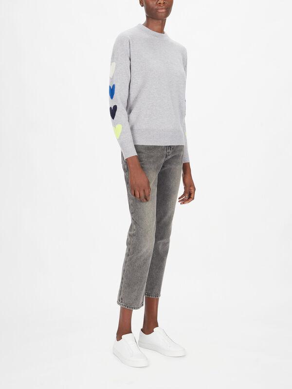 Mina Heart Sleeve Knit