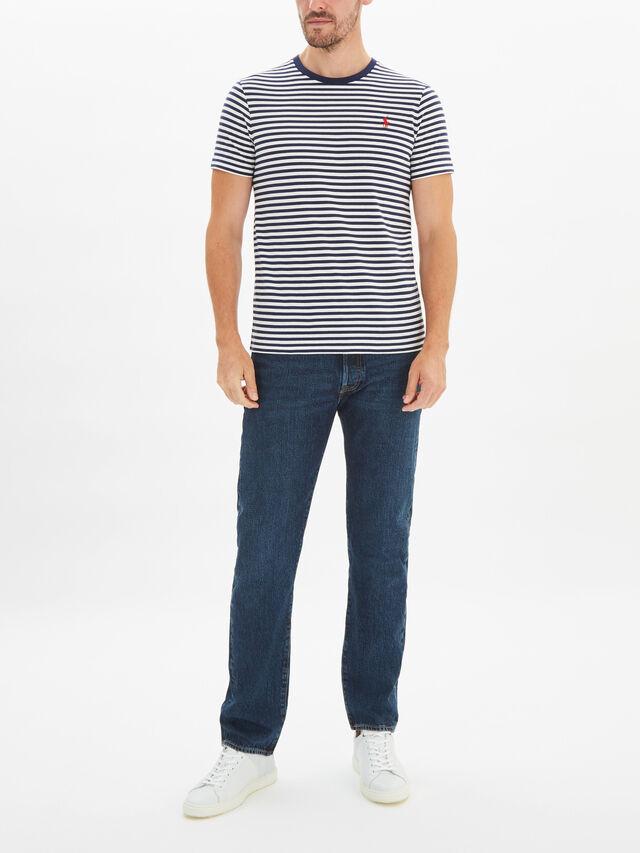 Custom Slim Fit Striped T-Shirt