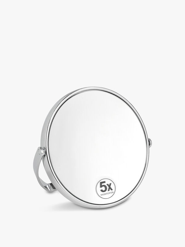 Folding Chrome Mirror 13cm