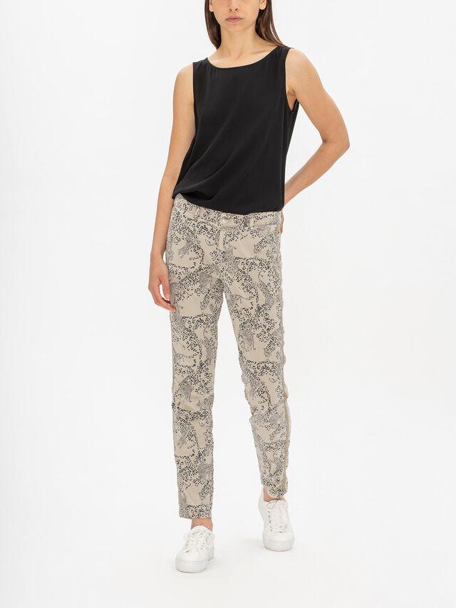 Animal Print Casual Trouser