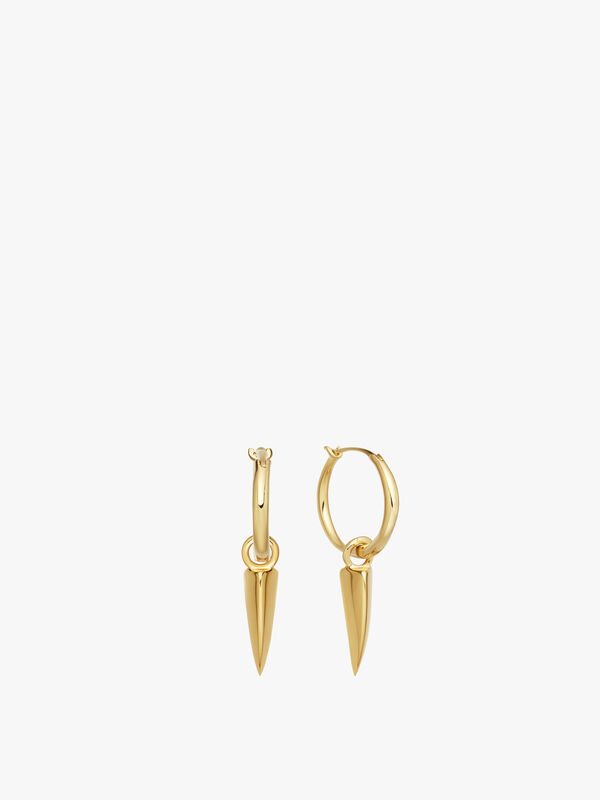 Mini Dagger Charm Hoops