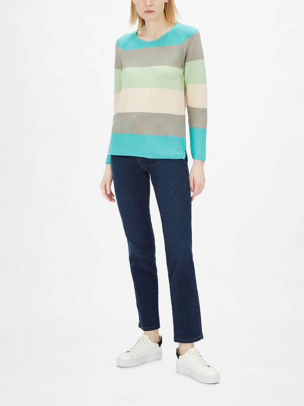 Long Sleeve Block Stripe Knit