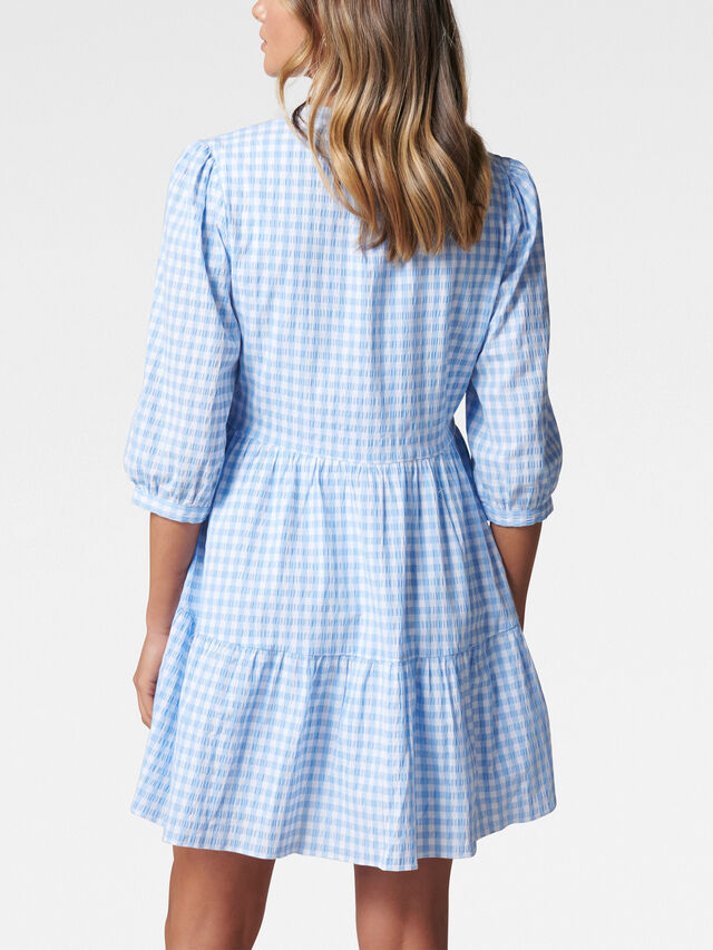 Gina Gingham Smock Dress