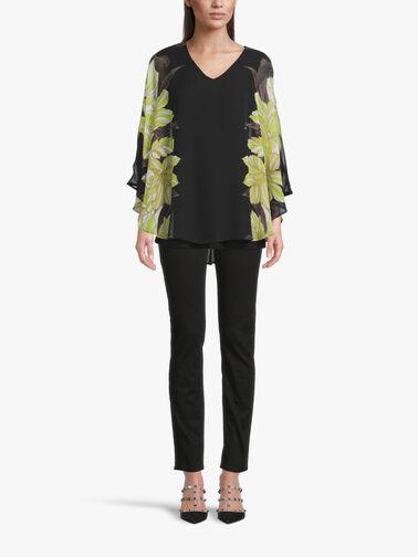 V-Neck-Chiffon-Blouse-w-Floral-Print-Batwing-Slv-211030