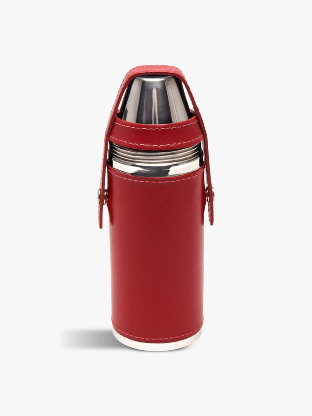 Sterling Hunter's Flask with 4 Cups