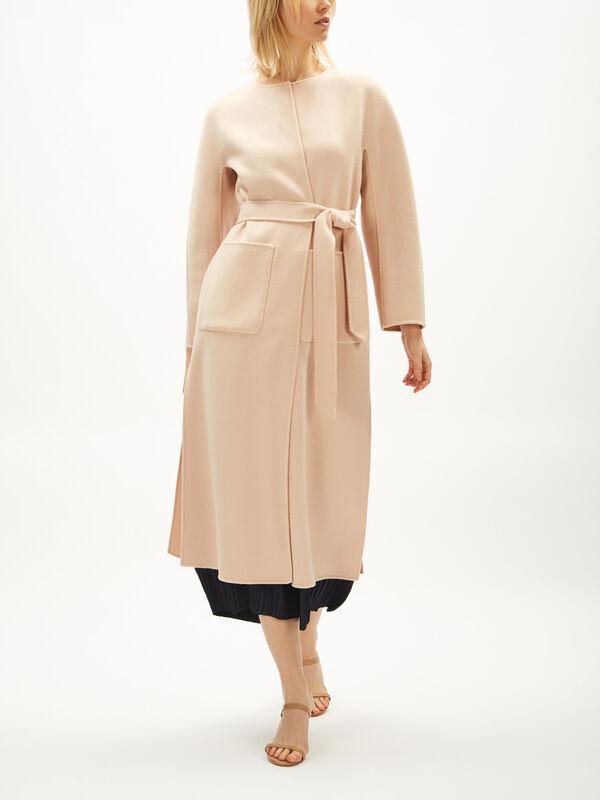 Adagir Wool Collarless Coat