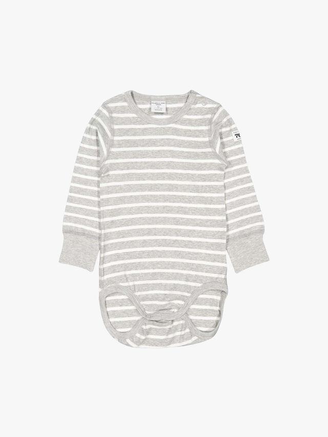 Striped GOTS Organic Baby Bodysuit