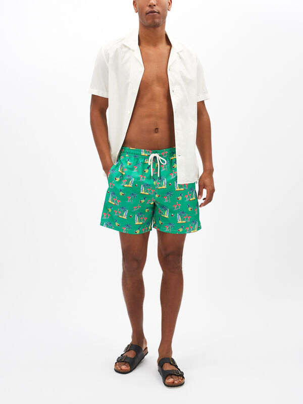 Flamingo Traveller Swim Shorts