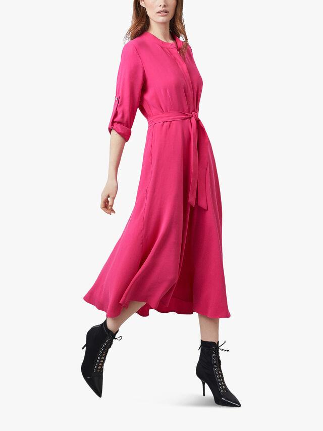 Roll Sleeve Midi Dress