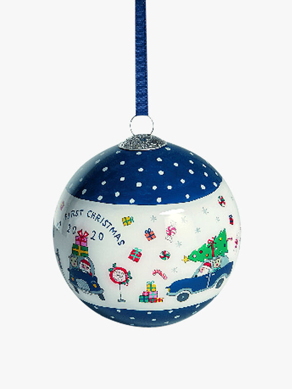 Blue Bauble Xmas Wishes 2020