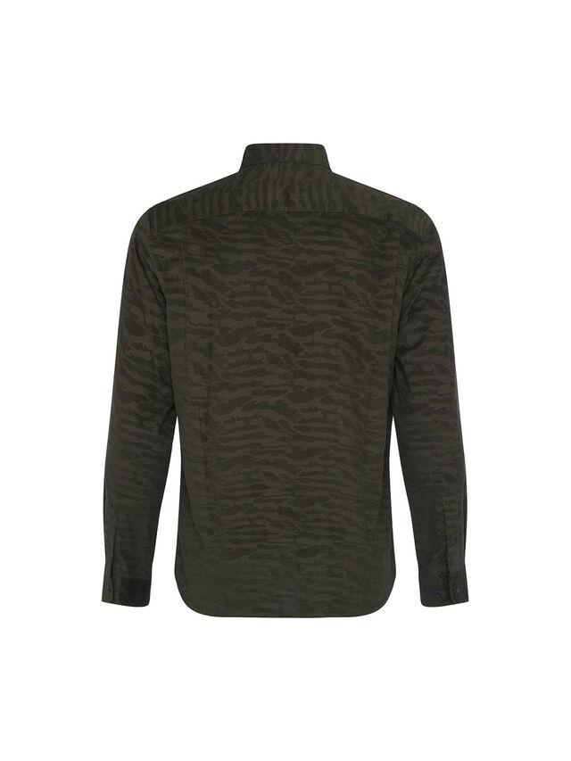 Micro Cord Camo Long Sleeve Shirt