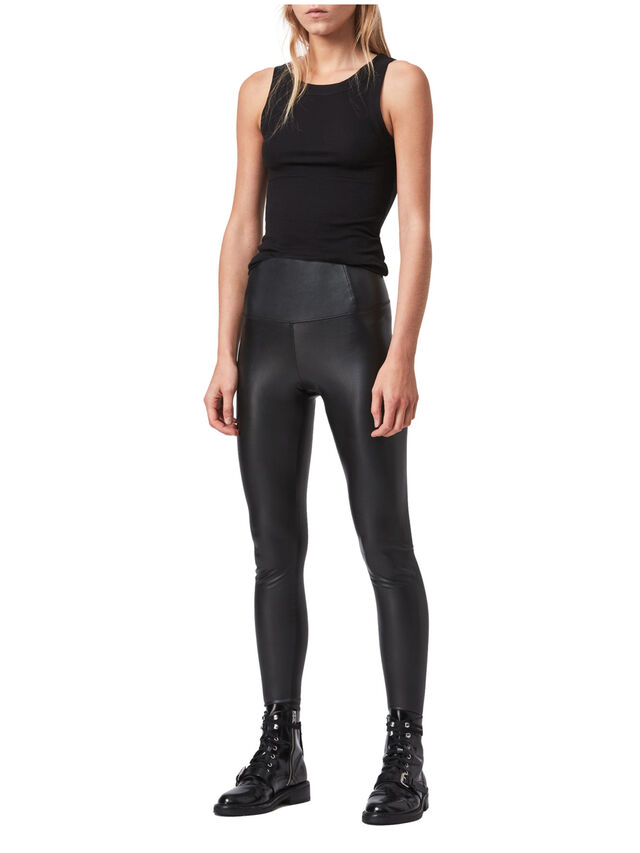 Cora Leather-Look Leggings