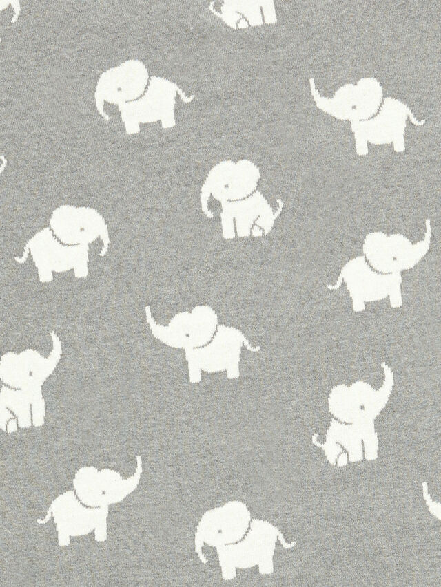 Welcome To The World Knitted Elephant Blanket