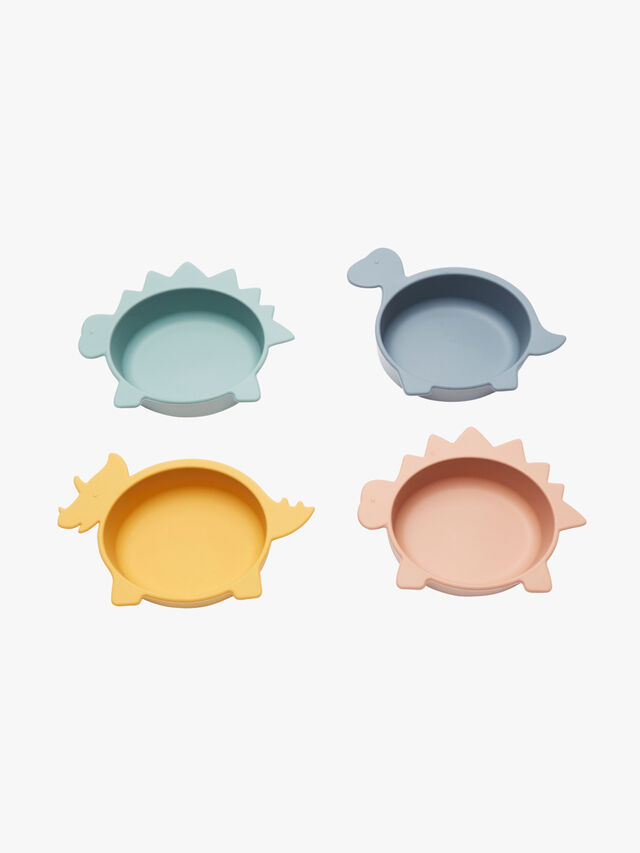 Iggy Silicone Bowls 4 Pack Dino