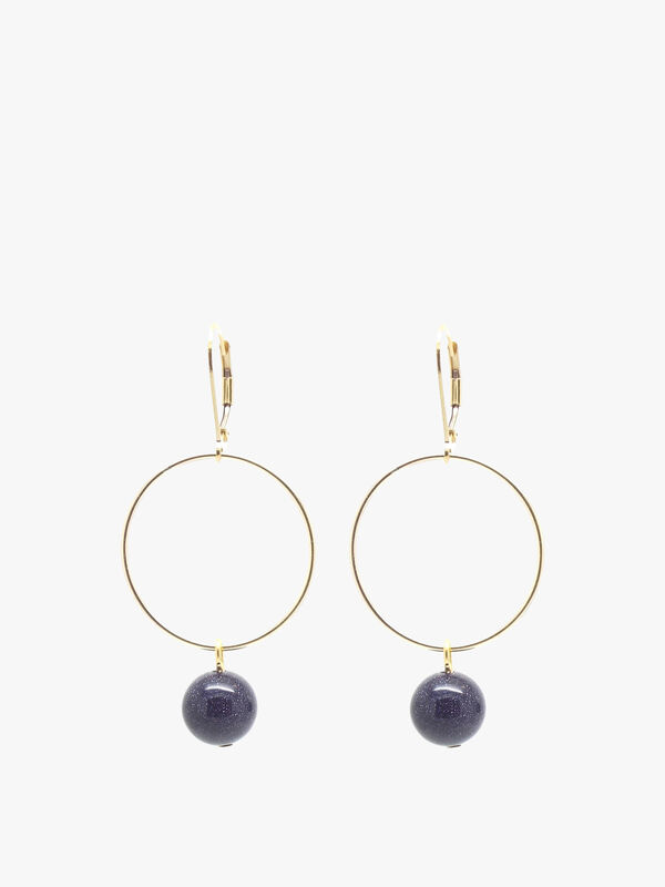Blue Goldstone Lorna Drop Earrings
