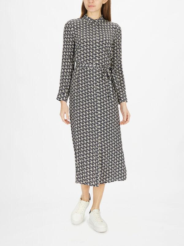 Penny Print Shirt Midi Dress