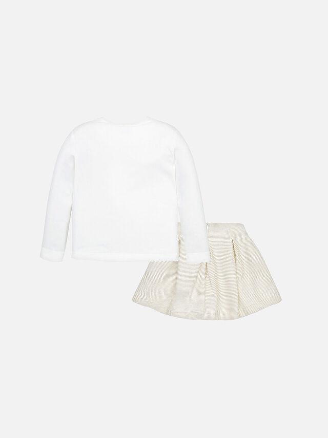 Heart T-Shirt and Skirt Set