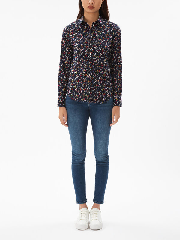 Scribbles Floral Stretch Shirt