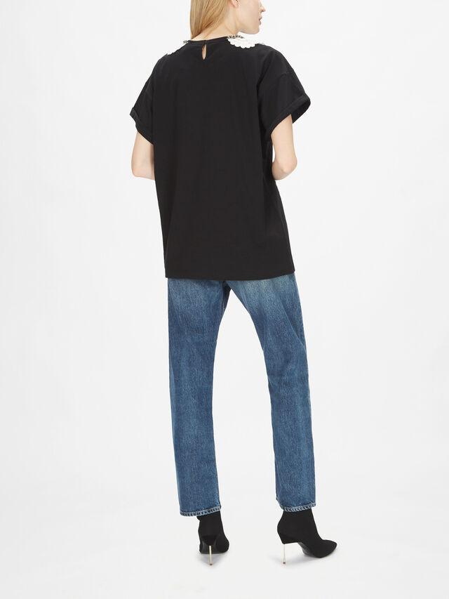 Lace Collar T-Shirt