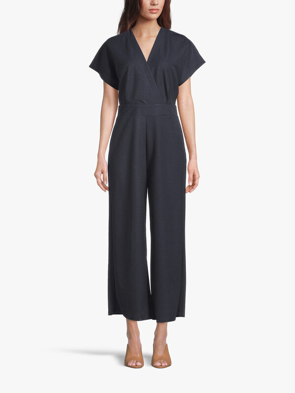 Knitted Short Sleeve Jumpsuit