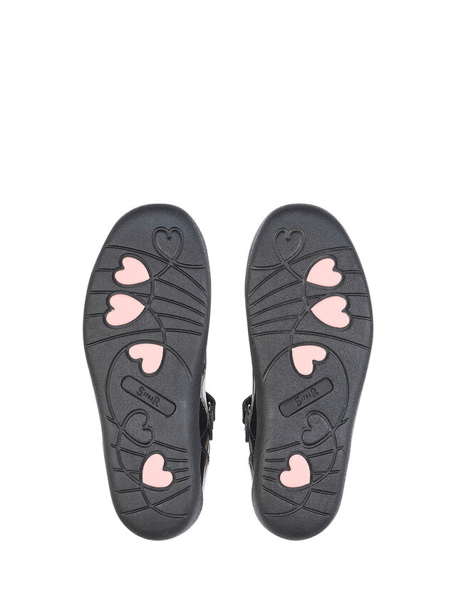 Giggle Black Patent School Shoes