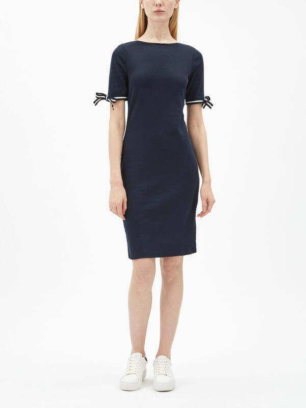 Brandeis Elbow Sleeve Casual Dress
