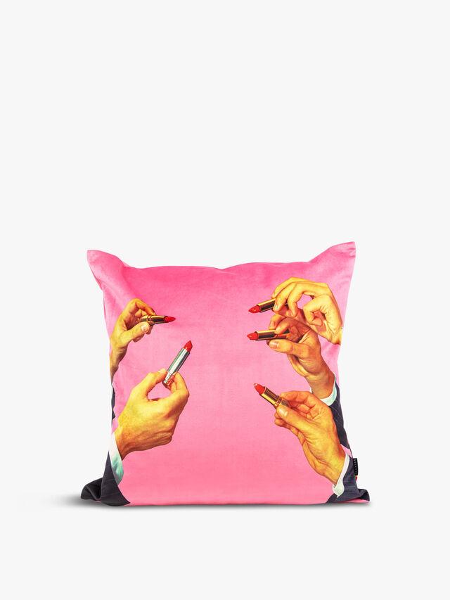 Pink Lipstick Cushion