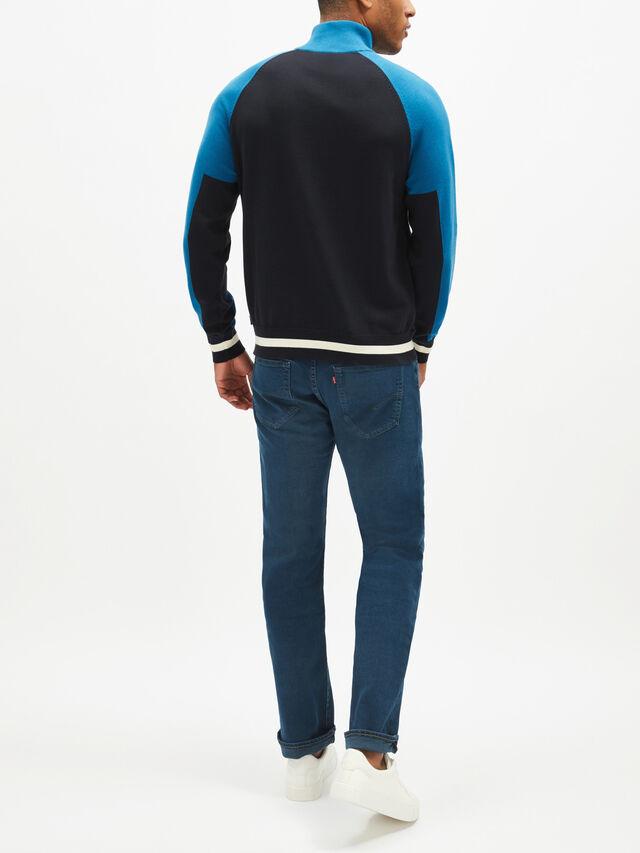Colourblock Half-Zip Sweatshirt