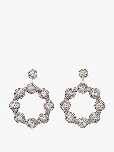 Diamante Hoop Earrings