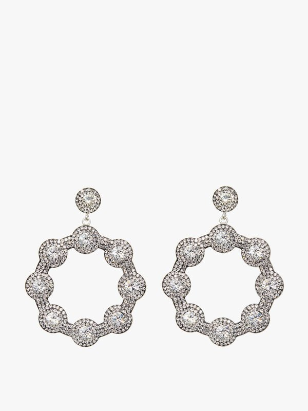 Diamante Hoop Earrings