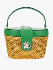 Rose Medium Top Handle Basket Bag
