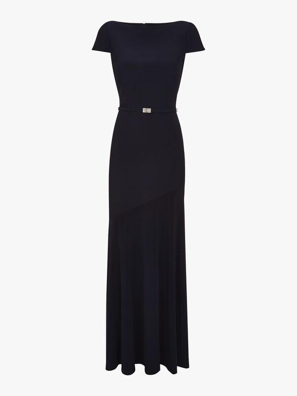 Velandrya Cap Sleeve Evening Dress