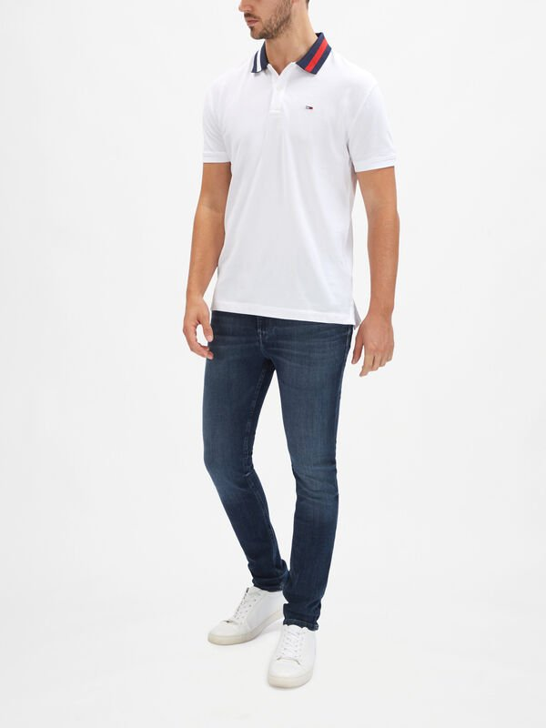 Flag Neck Polo Shirt
