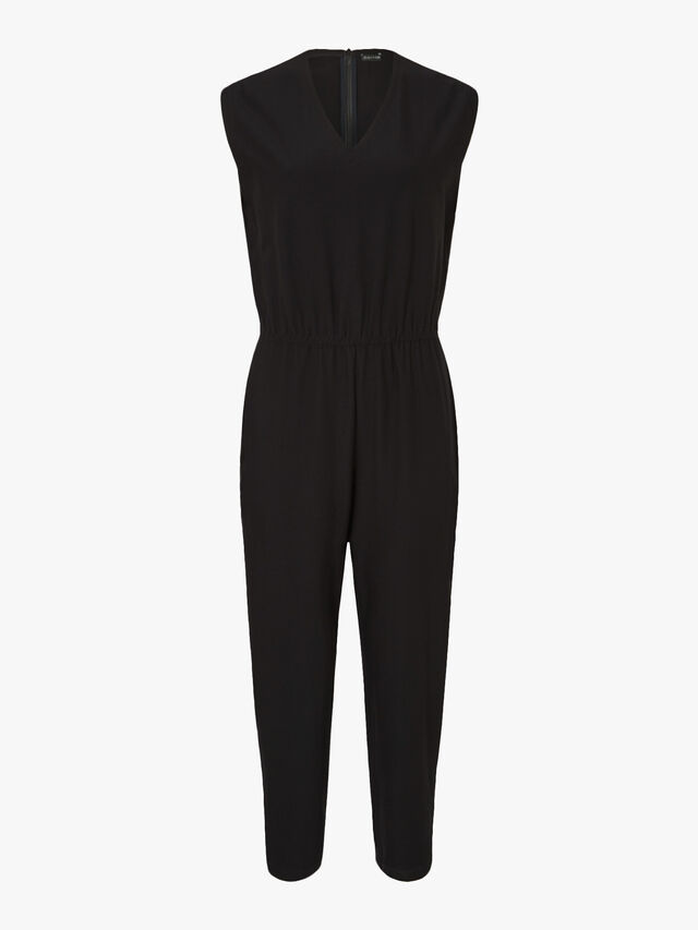 V-Neck Ankle Length Jumpsuit
