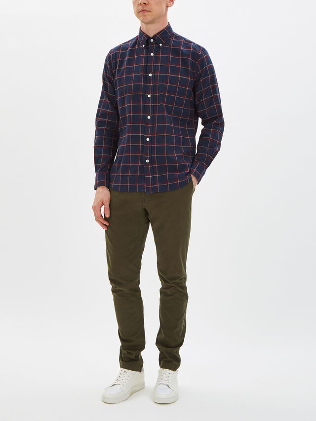 Pow Herringbone Plaid Shirt