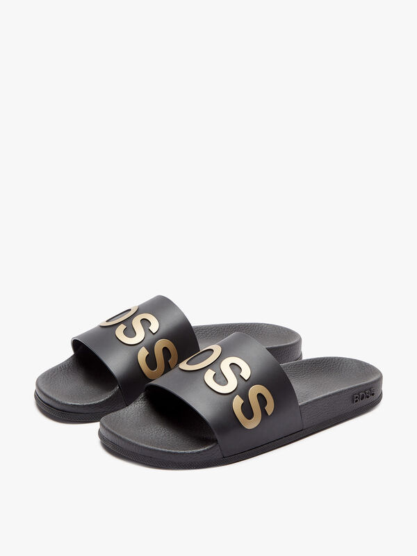 Bay Slides With Logo Sole