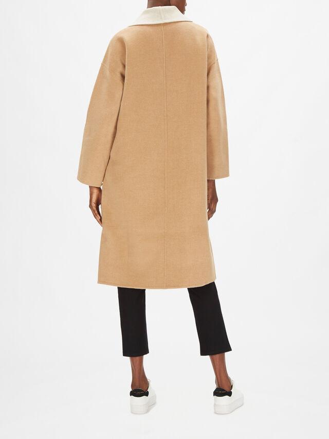 Doubleface Cashmere Blend Shawl Collar Coat