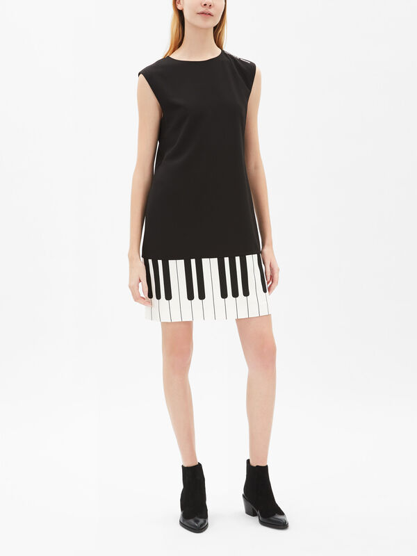 Piano Trim Shift Dress
