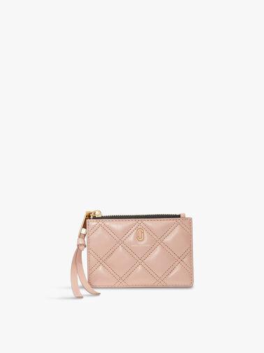 Quilted Softshot Top Zip Multi Wallet