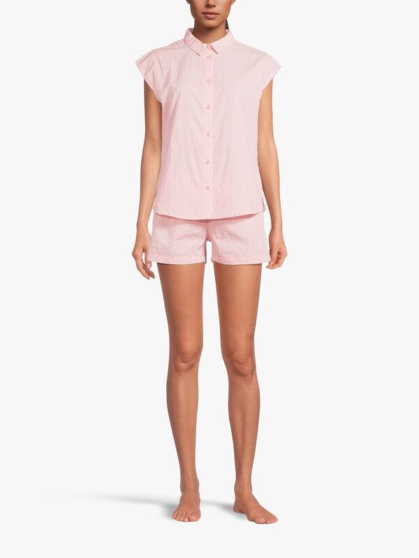 Candita Short Sleeve Cropped Pyjama Set