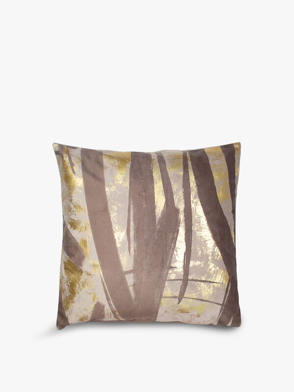 Abstract Taupe Gold Cushion Cover