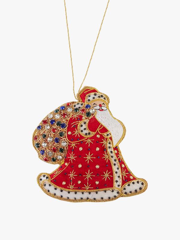 Royal Santa with Sack Decoration