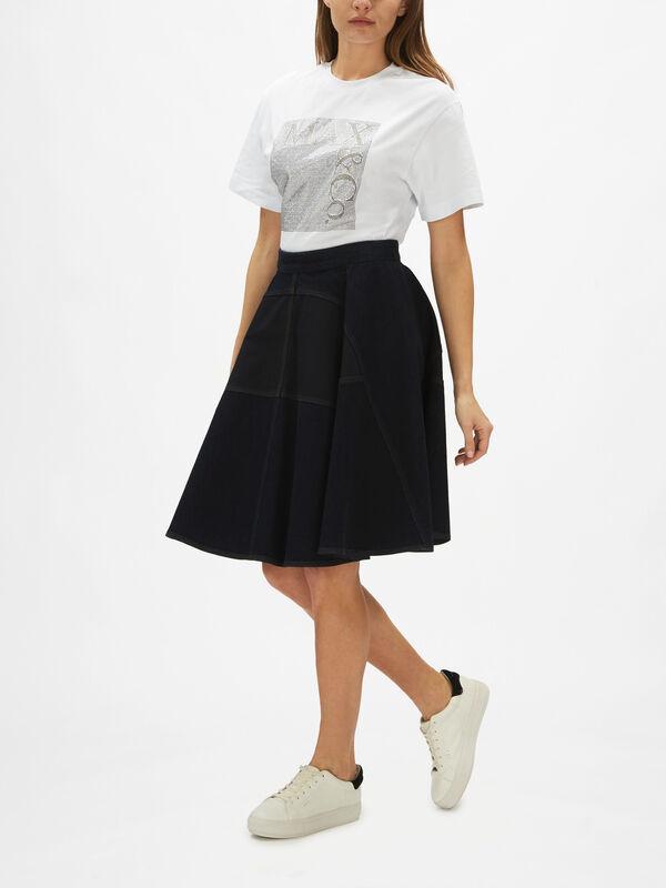 Piccozza Denim A Line Skirt