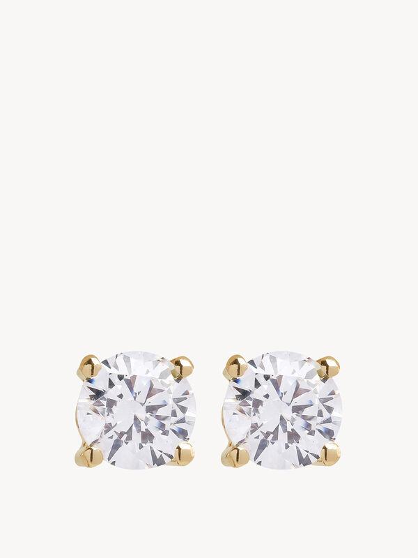 Princess Round Earrings