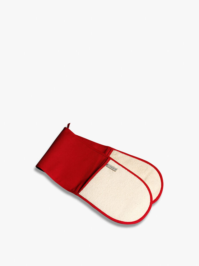 Double Oven Glove Red